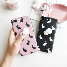 3D Rabbit Animal Soft Silicone Squishy Phone Case Cover for iPhone 6 6S 7 Plus