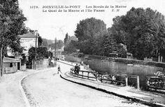 Joinville le pont : Quai de la Marne et île Fanac