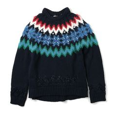 MUVEIL ノルディック柄セーター