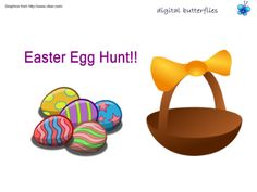 It's a bit cold outside.  Keep your Easter egg hunt inside the classroom on your SMART Board