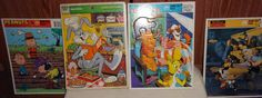 Vintage Frame Tray Puzzles 1950s-1990s Batman Bugs Bunny Dracula Winnie the Pooh The Rocketeer Planeteer Peanuts Pinocchio New by 1973Store on Etsy