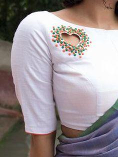 Saree Blouse Neck Designs, Simple Blouse Designs, Stylish Blouse Design, Dress Neck Designs, Simple Blouse Pattern, Latest Blouse Neck Designs, Blouse Neck Patterns, Choli Blouse Design, Sleeves Designs For Dresses
