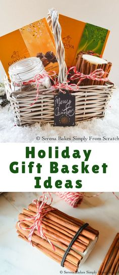 Holiday Gift Baskets are always fun to receive and give whether it's for Mom, a best friend, coworker or neighbor I think everyone loves a basket filled with goodies!