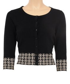 Look what I found on #zulily! Black Circlet Wool-Blend Cardigan by Louie et Lucie #zulilyfinds