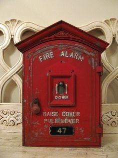 Vintage Fire Alarm Call Box - SAFA. $120.00, via Etsy.