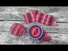 Loom Knit Toe-Up Socks Beginning to End - YouTube