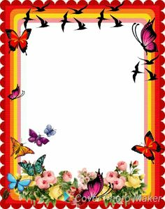 Boarder Designs, Frame Border Design, Page Borders Design, Easy Coloring Pages, Colouring Pics, Picture Borders, Good Morning Beautiful Flowers, Free Printable Stationery, Boarders And Frames