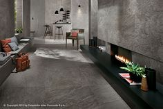 Emotional design: stone-look floors and walls Brave