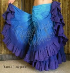 """Ultra Turquoise"" 25 Yard Petticoat Skirt.  You can order yours or create your own color combo here:  http://www.paintedladyemporium.com/Shop-Here.html"