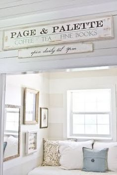 ♕ love this little reading nook