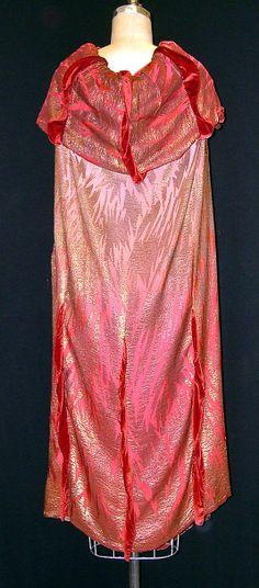 Cape Liberty &Co mid 1920's silk metallic thread