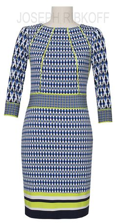 Joseph Ribkoff retro print dress.