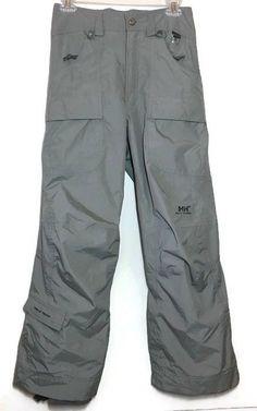 Helly Hansen Tech Cargo Ski Snow Pants S Gray High Waist Water Repellent Womens #HellyHansen