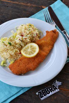 Risotto cu praz si file de cod pane Risotto, Ethnic Recipes, Food, Essen, Meals, Yemek, Eten