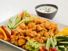 Cauliflower Hot Wings with Buttermilk Ranch Dipping Sauce recipe from Ayesha Curry via Food Network