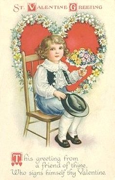 St. Valentine Greetings, postcard,by Ellen Clapsaddle.