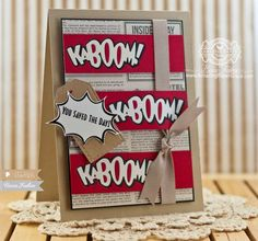 February 2015 NEW RELEASE Showcase Day 2! Card by Becca Feeken featuring Kaboom clear stamp set and Kaboom Die.  Shop here - http://www.waltzingmousestamps.com/     Waltzingmouse Stamps Blog - http://waltzingmouse.blogspot.ie/ #wms #waltzingmouse #superhero #kaboom