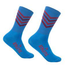 Zig Zag Socks - Blue & Red