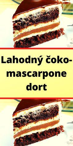 Chocolate And Vanilla Cake, Chocolate Torte, Delicious Chocolate, Chocolate Peanut Butter, Chocolate Recipes, Easy Cake Recipes, Cookie Recipes, Mascarpone Cake, New Cake