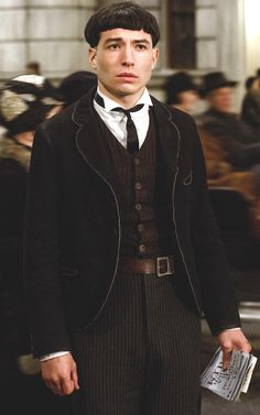 Ezra Miller as Credence Barebone from 'Fantastic Beasts and Where To Find Them' (2016). Costume Designer: Colleen Atwood