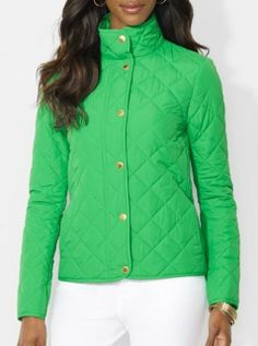 Green and gorgeous! Quilted Jacket
