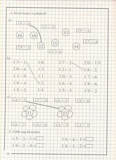 művelet-műveletre_1 - Kiss Virág - Picasa Web Albums Homeschool Math, Math Classroom, English Vocabulary, Worksheets, Preschool, Album, Teaching, Minecraft, Activities
