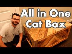 Ty Moser from the MonoLoco Workshop provides detailed articles videos and plans for DIY home and shop projects focusing on woodworking. Cat Box Furniture, Furniture Plans, Kids Furniture, Cat Litter Box Diy, Diy Dog Crate, Diy Pallet Wall, Cat House Diy, Wood Pallets, Pallet Wood