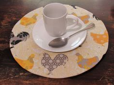Handmade placemats - CODE: - get off - by PattyArtCo Rustic Placemats, Charger Plates, Tea Cups, Things To Come, Tableware, Cover, Unique Jewelry, Handmade Gifts, Shop