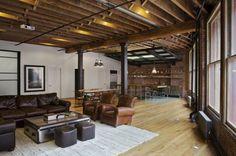 décoration industrielle et maison avec poutre apparente