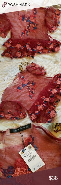 New Zara Top New No trades or holds Offers welcomed! Zara Tops