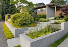 Popular Modern Front Yard Landscaping Ideas Elegant Modern Front Yard Amazing Concrete Planters for Modern Front Yard Modern Front Yard, Small Front Yard Landscaping, Front Yard Design, Backyard Landscaping, Landscaping Ideas, Modern Backyard, Patio Ideas, Backyard Ideas, Landscaping Melbourne