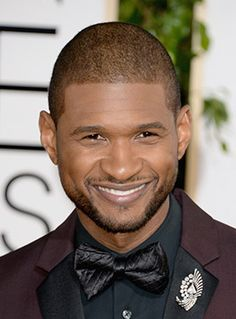 Usher Rocked a Diamond Brooch by Lorraine Schwartz at the 2014 Golden Globes