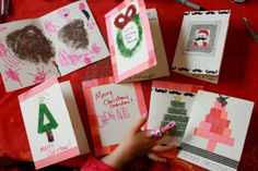 DIY Glitter Tape and Handmade Christmas Cards - The Artful Parent