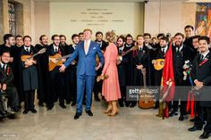 King Willem-Alexander of The Netherlands and Queen Maxima of The Netherlands visits the University where they meet students on October 11, 2017 in Lisboa CDP, Portugal. Foundation Champalimaud develops programs for biomedical research and gives clinical care.