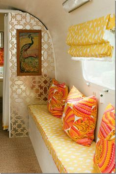 The inside of this airstream reminds me of my Gramma~Nonie, she would have loved this trailer.  Miss u Nonie :)