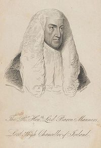 Thomas Manners-Sutton, 1st Baron Manners PC, KC (24 February 1756 – 31 May 1842), was a British lawyer and politician who served as Lord Chancellor of Ireland from 1807 to 1827.