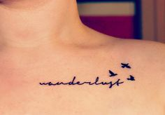 Wanderlust and swallow tattoo