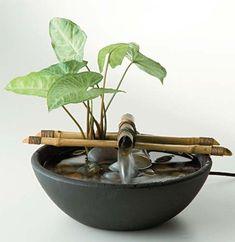 ideas diy garden fountain planters for 2019 Bamboo Fountain, Diy Garden Fountains, Tabletop Water Fountain, Diy Fountain, Small Fountains, Indoor Water Fountains, Indoor Fountain, Outdoor Fountains, Meditation Room Decor