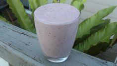 Vegetable Smoothie Recipe: 1/2 c milk, 1 c yogurt, 1 banana, 1 T honey, 1/4 c blueberries and 2 handfuls spinach
