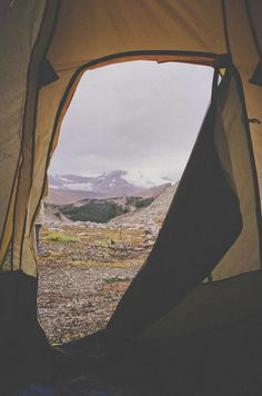 Camping:  Our fav type of view in the AM.