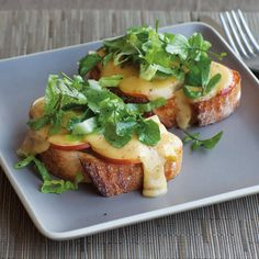 Welsh Rarebit with Tangy Watercress Salad