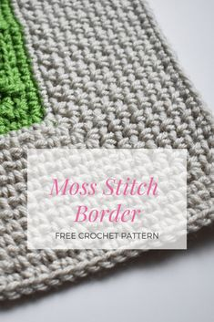 Impress Everyone With This Simple And Beautiful Moss Stitch Border - Knit And Crochet Daily