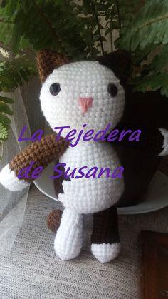 Gatita coqueta amigurumi  #cat #gatito #ganchillo #amigurumi #latejederadeSusana