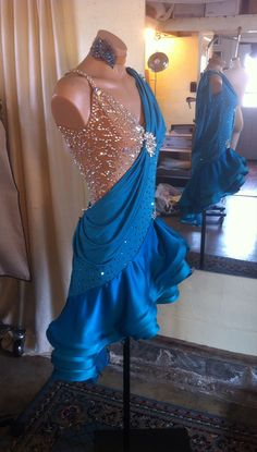 New Custom Ladies Dancesport Dress AC Dancrwear