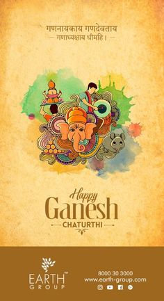 Embodiment Of Prosperity And Wealth Ganesha Comes Along To Savour Modak And Trumpets Of Victory And Health GBN Sr Sec School, Sector Faridabad Wishes You A Happy Ganesh Chaturthi Ganesh Chaturthi Quotes, Happy Ganesh Chaturthi Images, Festivals Of India, Indian Festivals, Creative Poster Design, Creative Posters, Ads Creative, Birthday Wishes For Girlfriend, Husband Birthday