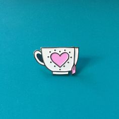 Teacup Enamel Pin by OffWhiteLiesCo on Etsy