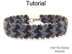 Half Tila RicRac Bracelet Downloadable PDF Beading Pattern #24436 RicRac was a staple in my grandmas sewing basket. Nowadays, RicRac has a fun retro vibe that I just love – especially when its done with beads! This fun, and somewhat sophisticated, Half Tila RicRac Bracelet is a nice size, measuring 1/2 across with a flat and flexible profile. The colorful RicRac pattern can be made in bright, spring colors for a perfect Easter bracelet (looks like a basket weave), or in classy, sophisti...
