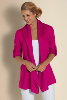 this is gorgeous Softened Linen Jacket - Soft Linen Jacket, Womens Light Jacket, Jacket For Spring   Soft Surroundings