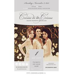 cool vancouver wedding #cremeshow is tomorrow and the Lux ladies will be there all day! Can't wait to meet you!! @countdownevents by @luxportrait  #vancouverwedding #vancouverwedding