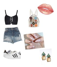 """Untitled #28"" by annialevine on Polyvore featuring River Island, adidas, Fendi and Banana Republic"